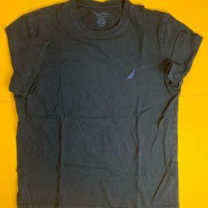 Nautica T Shirt Mens Medium Black Blue
